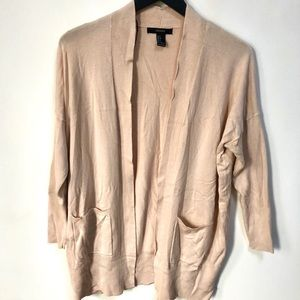 Forever 21 beige sweater cardigan